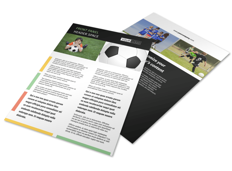 Soccer Camp Flyer Template Preview 1