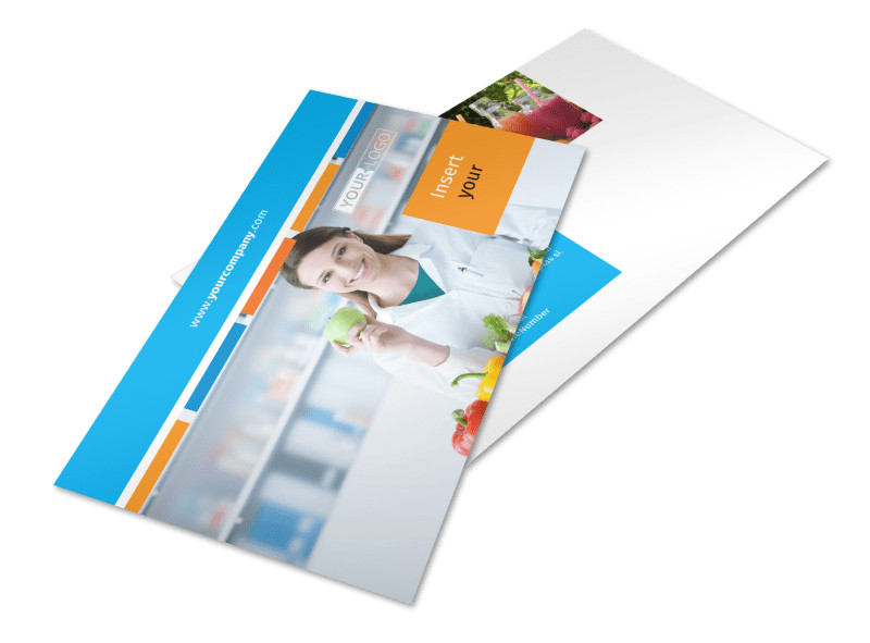 Dietary Guidance Consulting Postcard Template 2