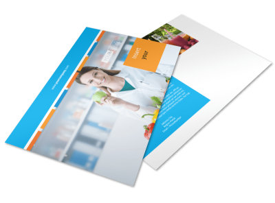 Dietary Guidance Consulting Postcard Template