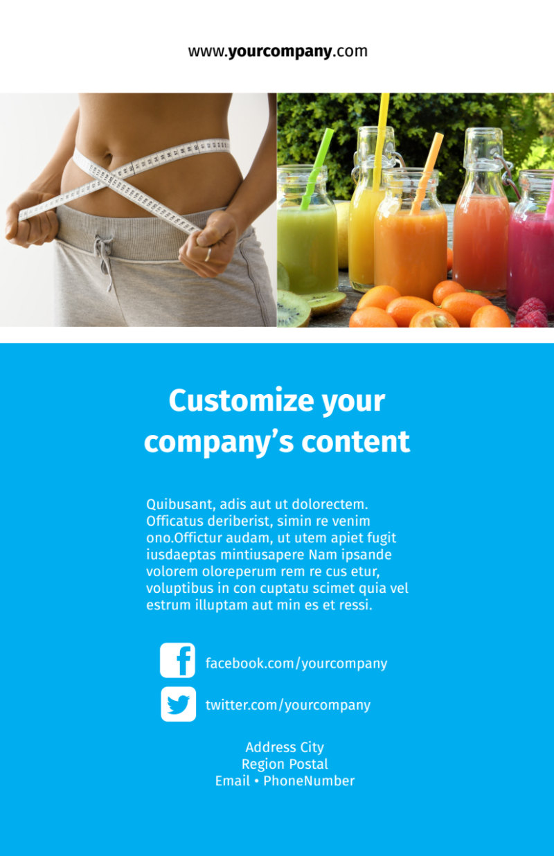 Dietary Guidance Consulting Flyer Template Preview 3