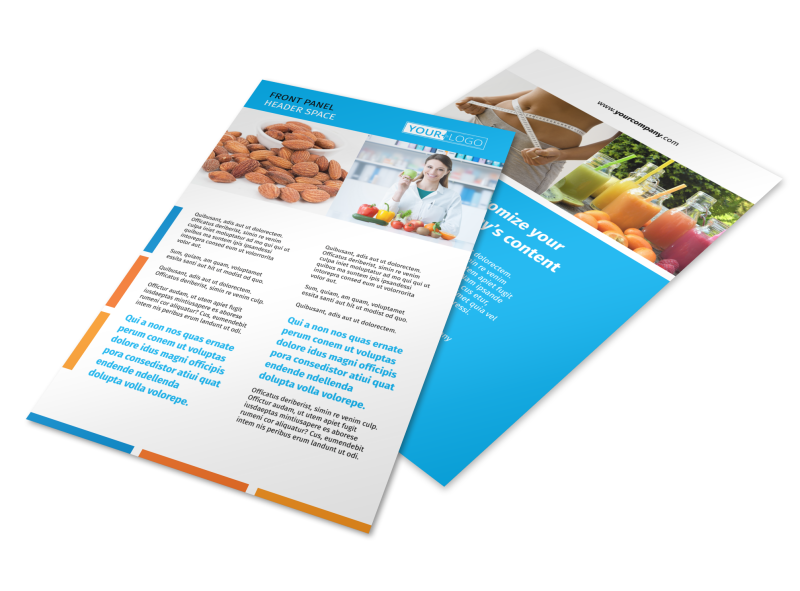 Dietary Guidance Consulting Flyer Template Preview 1