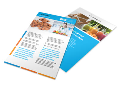 Dietary Guidance Consulting Flyer Template 3