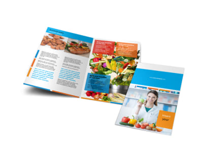 Dietary Guidance Consulting Bi-Fold Brochure Template preview