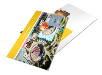 Amusement Park Postcard Template 2