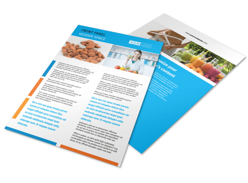Dietary Guidance Consulting Flyer Template