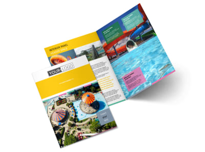 Amusement Park Bi-Fold Brochure Template 2