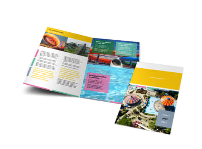 Amusement Park Bi-Fold Brochure Template