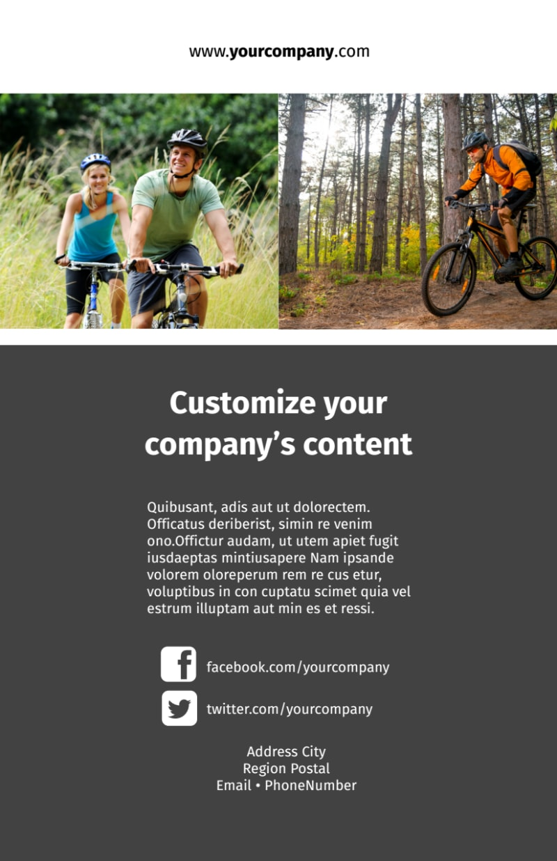 Biking & Cycling Flyer Template Preview 3