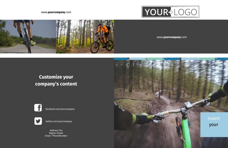 Biking & Cycling Brochure Template Preview 2