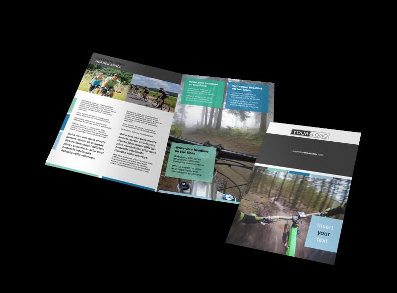 Biking & Cycling Brochure Template Preview 1