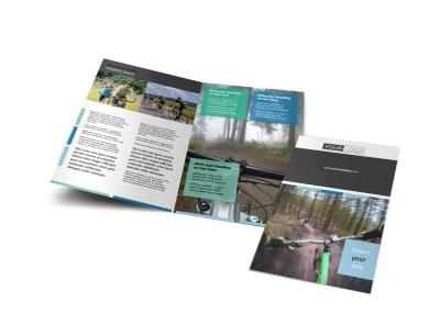 Biking & Cycling Bi-Fold Brochure Template preview