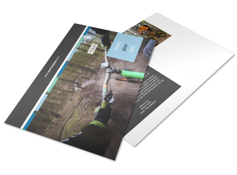 Biking & Cycling Postcard Template Preview 4