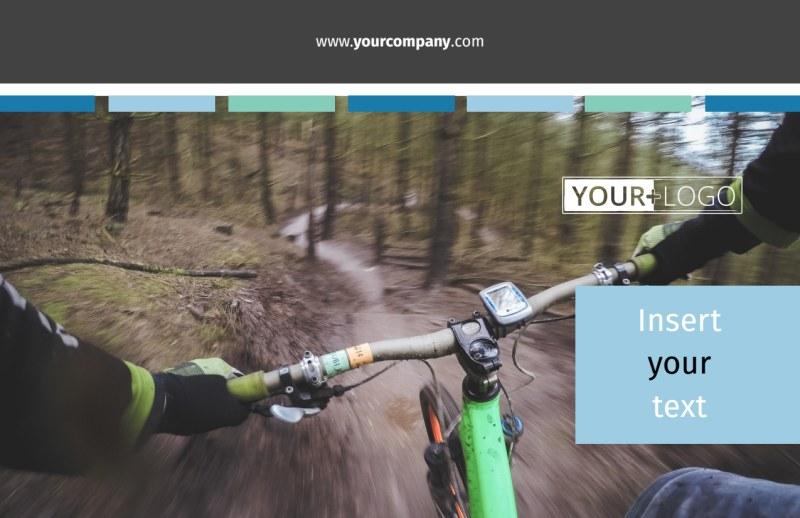 Biking & Cycling Postcard Template Preview 2