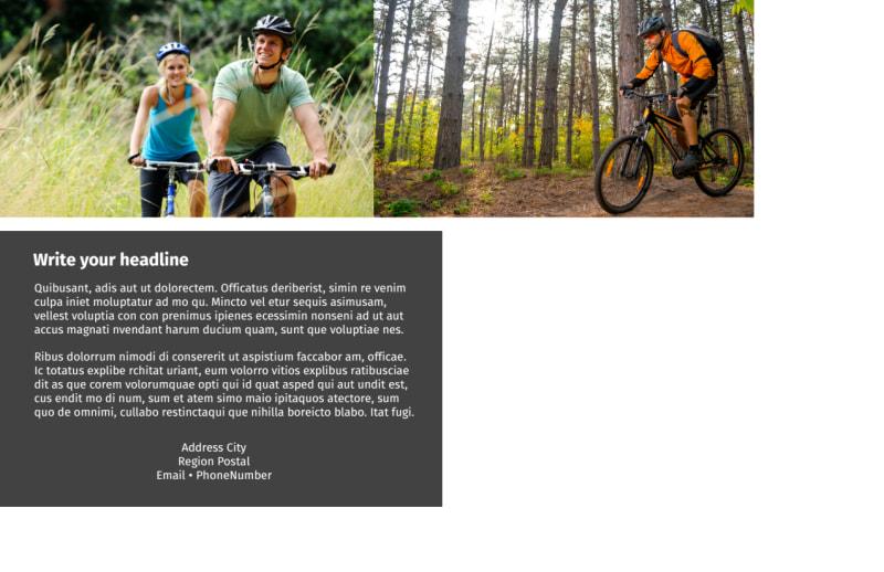 Biking & Cycling Postcard Template Preview 3