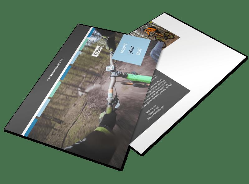 Biking & Cycling Postcard Template Preview 1