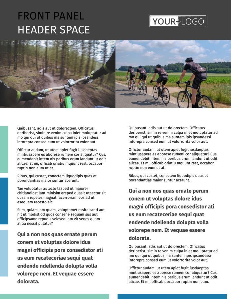 Biking & Cycling Flyer Template Preview 2