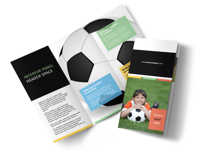 sports camp brochure template - soccer camp brochure template mycreativeshop