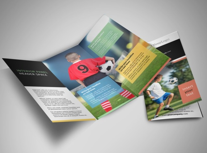 Soccer camp brochure templates for Sports camp brochure template