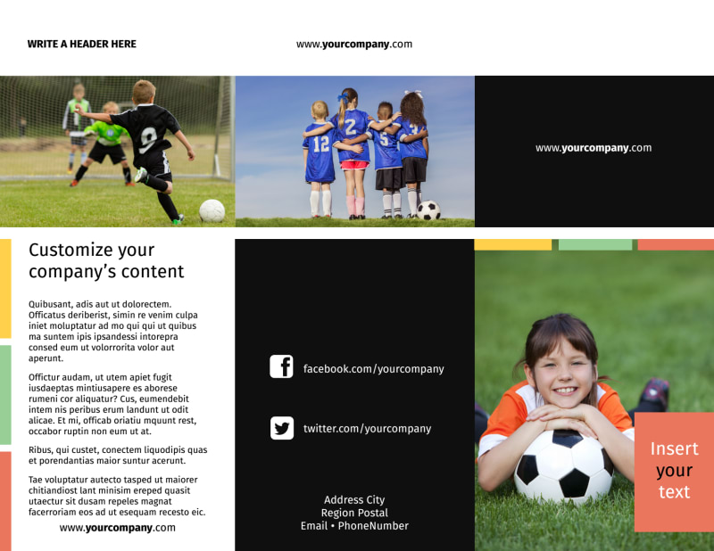 Soccer Camp Brochure Template Preview 2