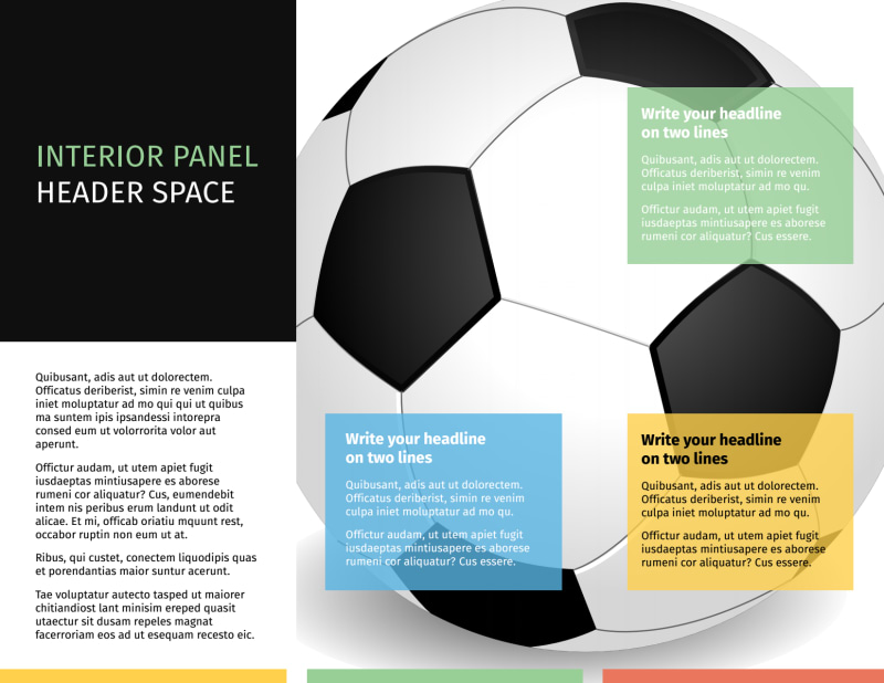 Soccer Camp Brochure Template Preview 3