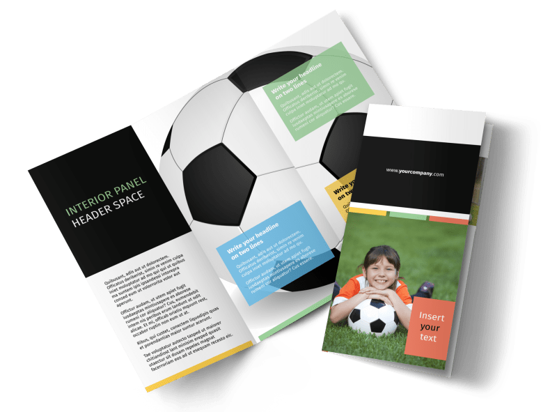 Soccer Camp Brochure Template Preview 1