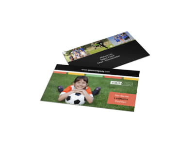 Soccer Sports Camp Business Card Template preview