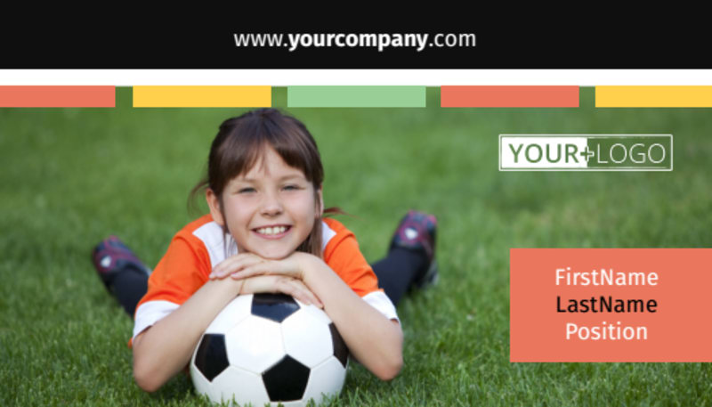 Soccer Camp Business Card Template Preview 2