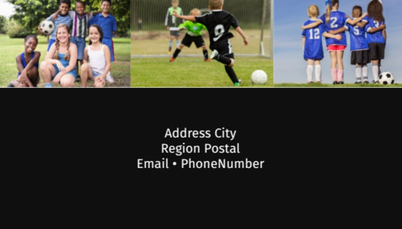 Soccer Camp Business Card Template Preview 3