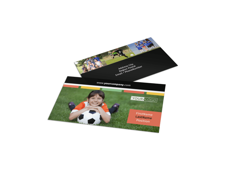 Soccer Camp Business Card Template Preview 1