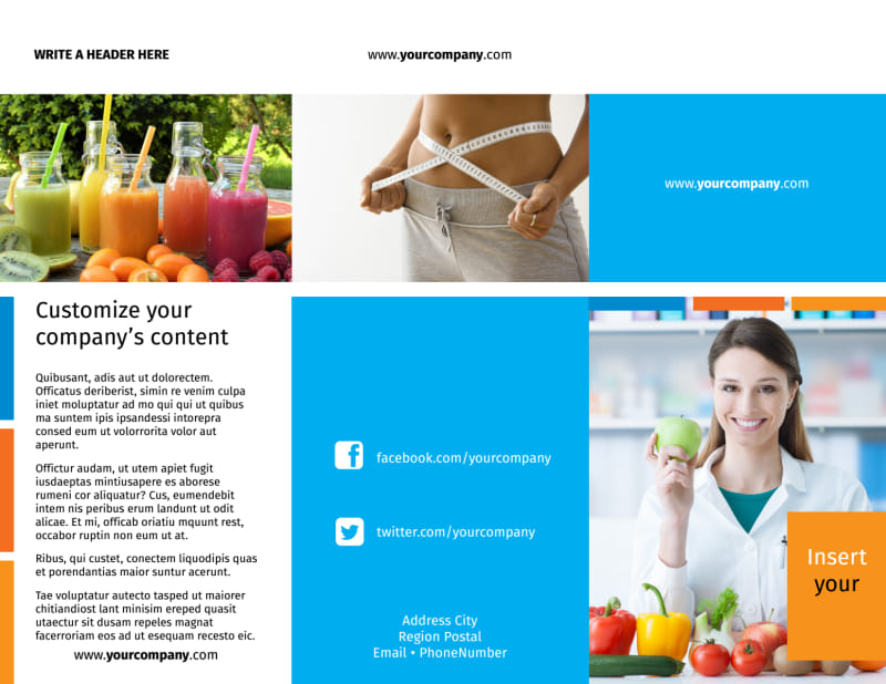 Dietary Guidance Consulting Brochure Template Preview 2