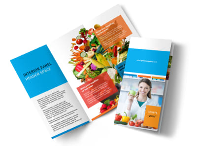 Dietary Guidance Consulting Tri-Fold Brochure Template preview