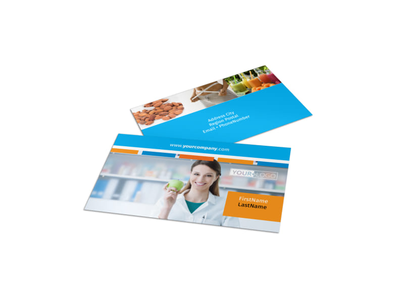 Dietary Guidance Consulting Business Card Template