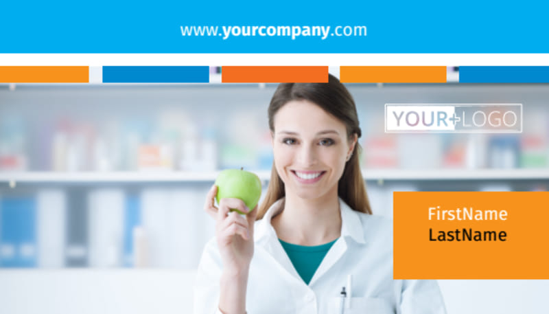 Dietary Guidance Consulting Business Card Template Preview 2