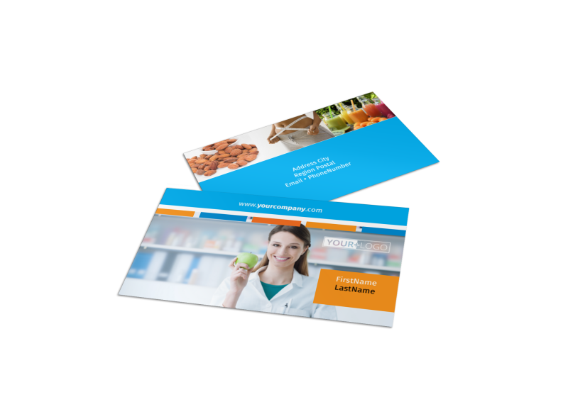 Dietary Guidance Consulting Business Card Template Preview 1