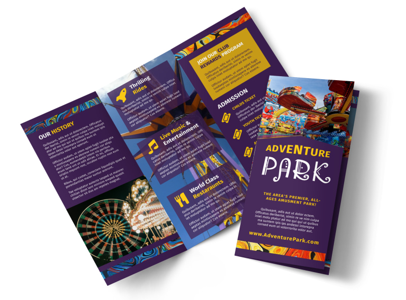 amusement park brochure template mycreativeshop