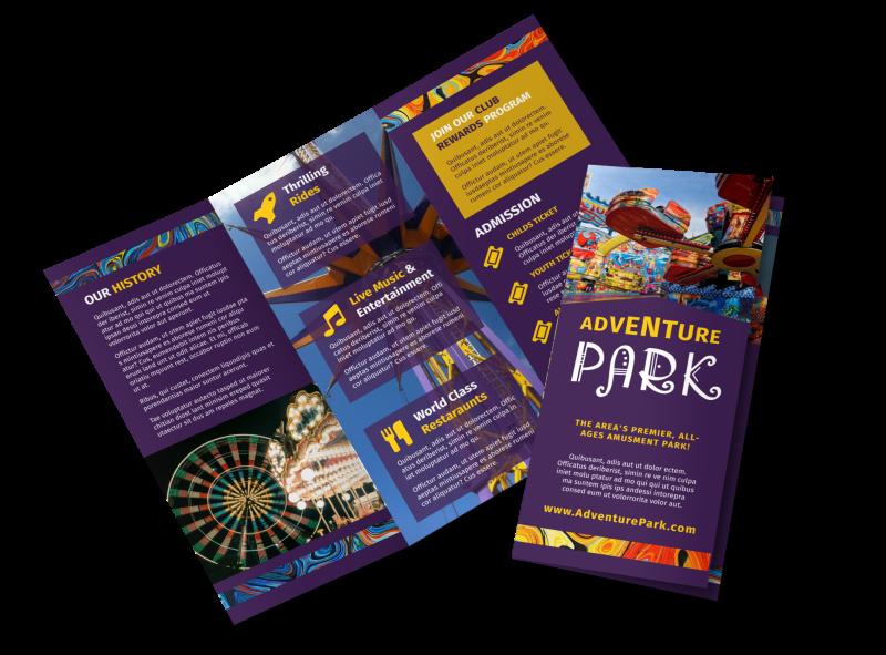Amusement Park Brochure Template Preview 1