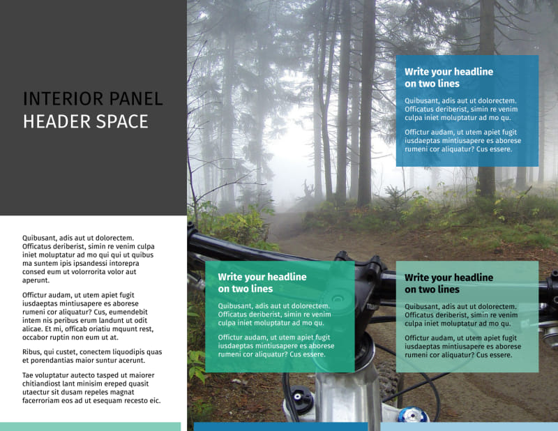 Biking & Cycling Brochure Template Preview 3