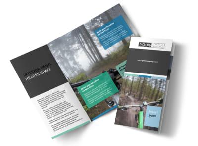 Biking & Cycling Tri-Fold Brochure Template preview