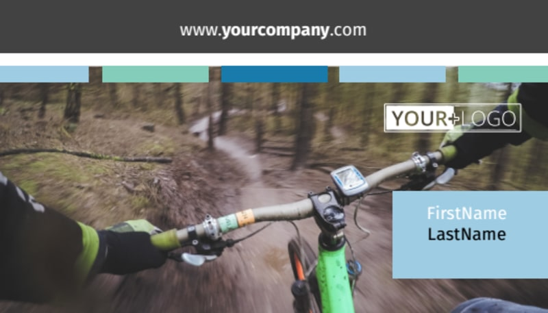 Biking & Cycling Business Card Template Preview 2
