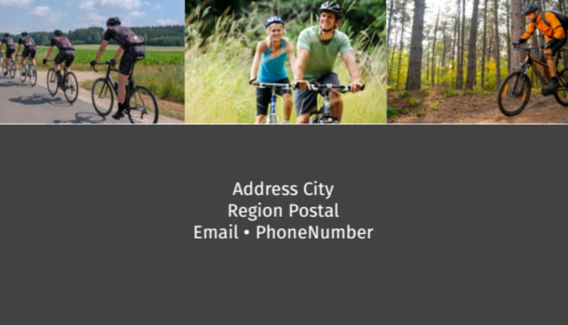 Biking & Cycling Business Card Template Preview 3