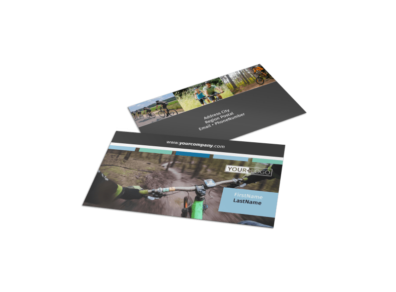 Biking & Cycling Business Card Template Preview 1