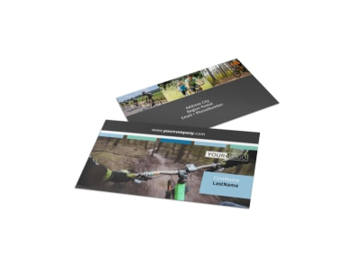 Biking & Cycling Business Card Template preview