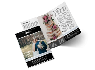 Wedding & Event Planning Bi-Fold Brochure Template