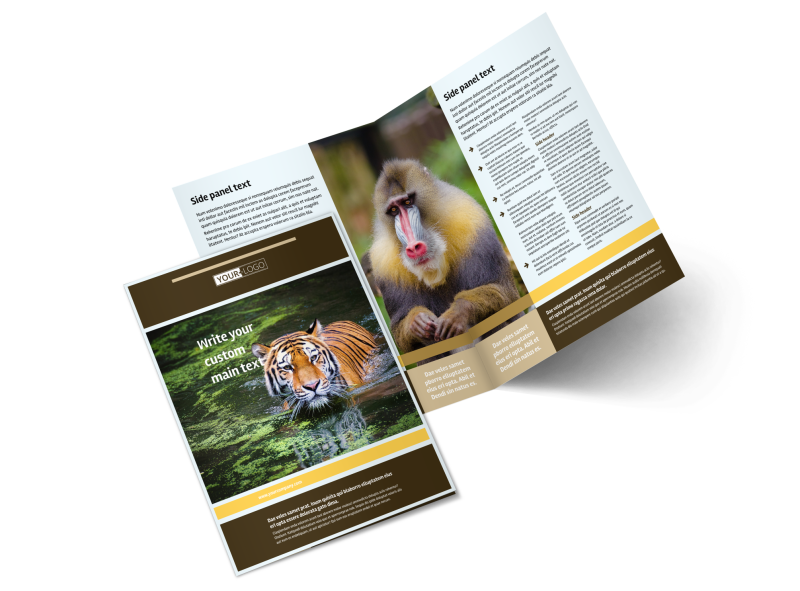 Zoo & Wild Animal Park Brochure Template Preview 1