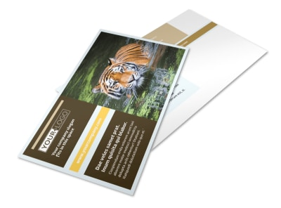 Zoo & Wild Animal Park Postcard Template 2 preview
