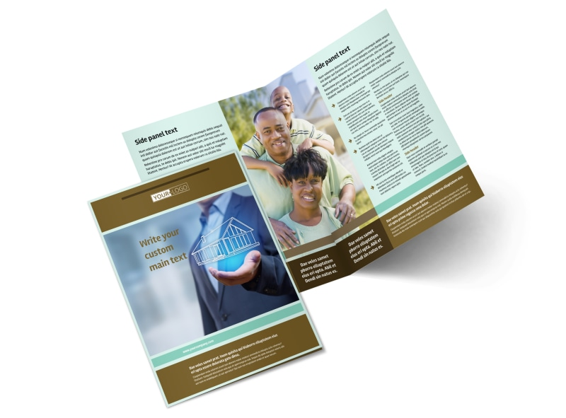 Home Insurance Bi-Fold Brochure Template 2