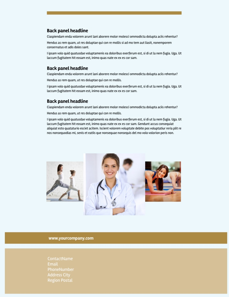 Womens Health Non Profit Flyer Template Preview 3