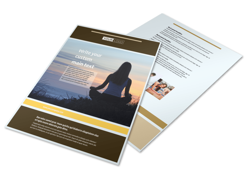Womens Health Non Profit Flyer Template Preview 1
