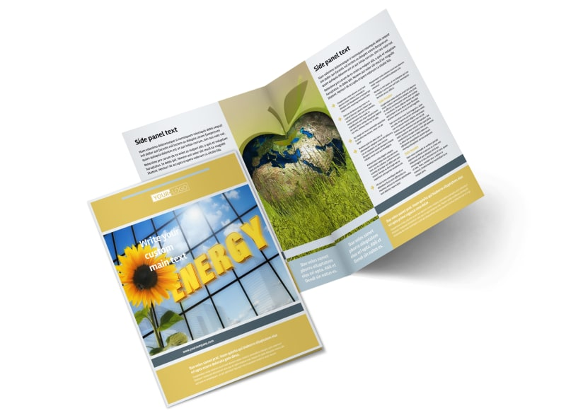 Clean Energy Consultants Bi-Fold Brochure Template 2