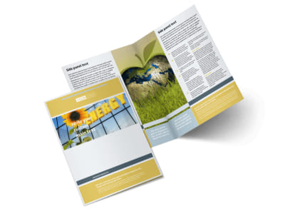 Clean Energy Consultants Bi-Fold Brochure Template 2 preview
